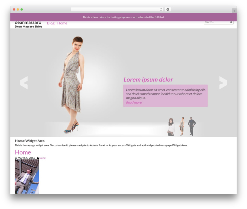 fFashion theme WordPress free - deanmassaro.com