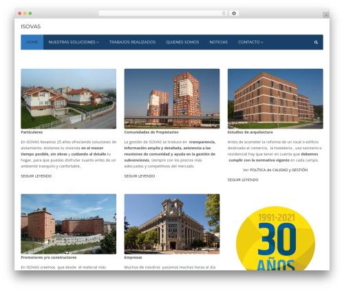 Industry WordPress website template - isovas.com