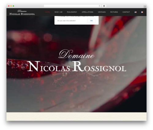 LARX WordPress theme - nicolas-rossignol.com