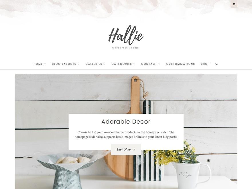 Little Girl Designs Customized Hallie WordPress page template