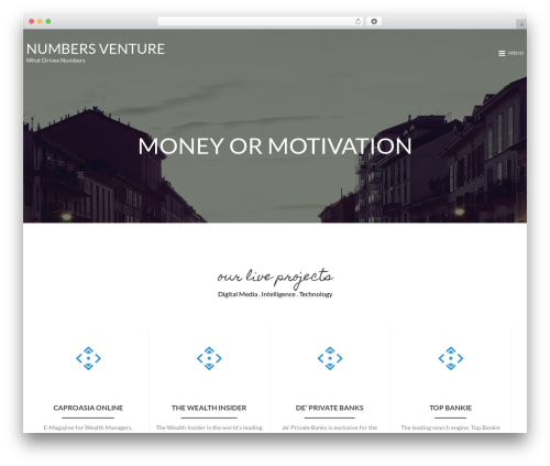 MinimalZerif best WordPress theme - numbersventure.com