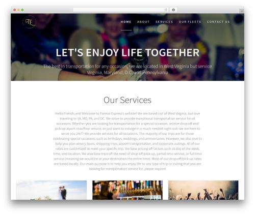 One Page Express premium WordPress theme - formalexpress.com