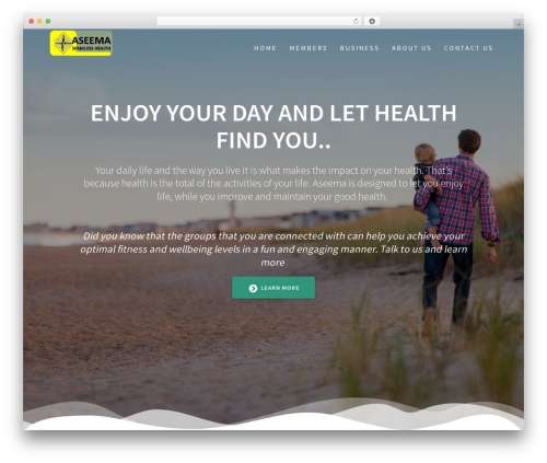 One Page Express WP template - aseemahealth.com