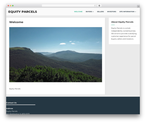 Seguente WordPress template free - equityparcels.com