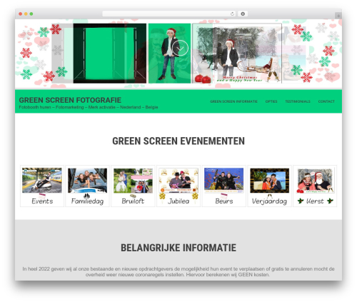SKT White template WordPress - greenscreenfotografie.com