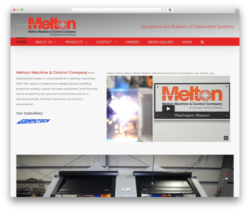Template WordPress Avada - meltonmachine.com