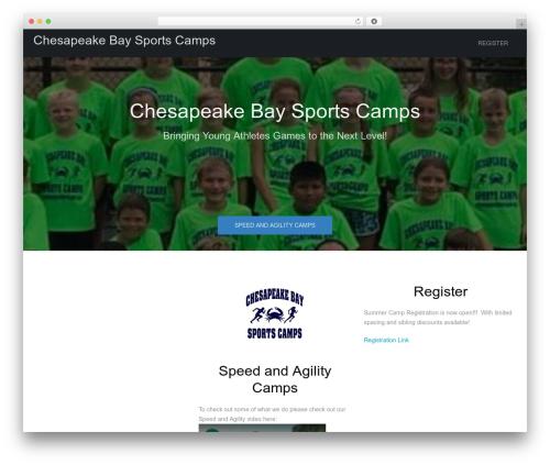 WordPress template Cannyon_ - chesapeakebaysportscamps.com