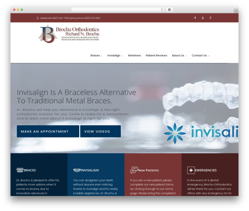 WordPress template Dentario - brochuortho.com