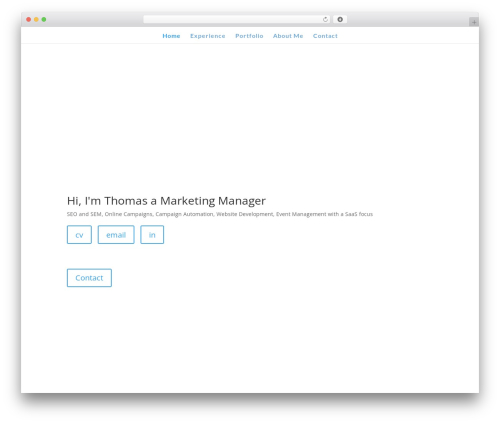 WordPress template Divi - hellemondt.com