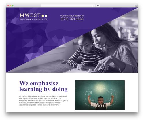 WordPress theme Divi - mwesteducationalservices.com