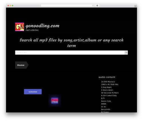 WordPress website template Rock Star Pro - gonoodling.com