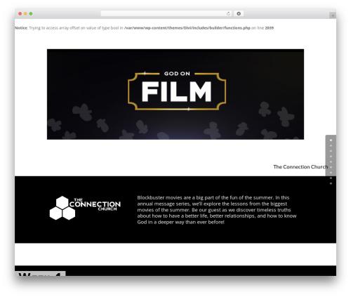 WP template Child Theme for Divi - godonfilm.com