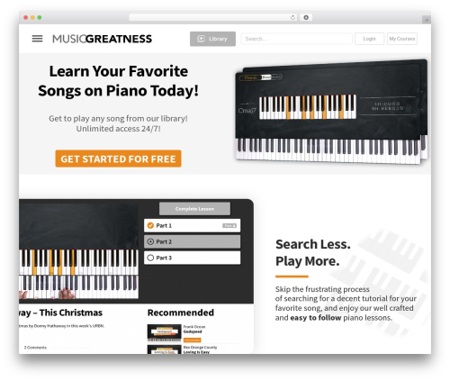 aardvark WordPress theme - musicgreatness.com
