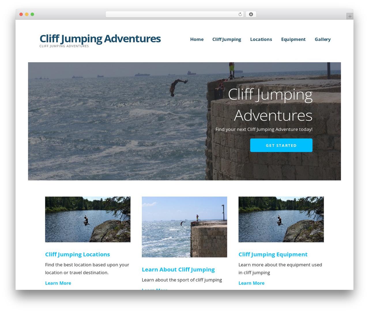 Ascension theme WordPress - cliffjumpingadventures.com