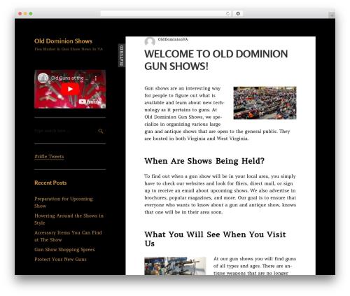 Best WordPress theme Risa - olddominionshows.com