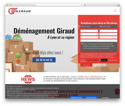 Betheme WordPress theme - demenagementsgiraud69.com