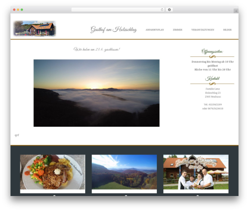 Brasserie WordPress theme download - gasthofamholzschlag.com