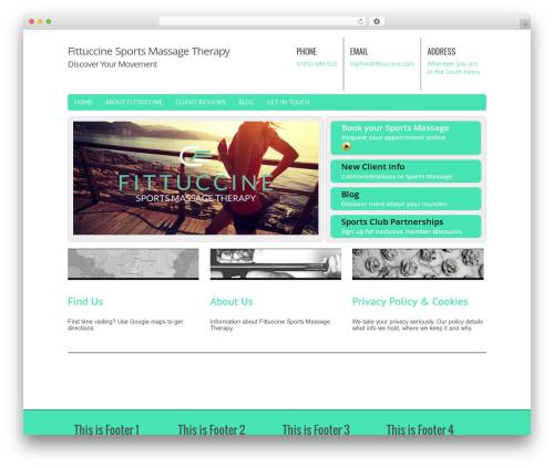 Chiro Pro WordPress template - fittuccine.com