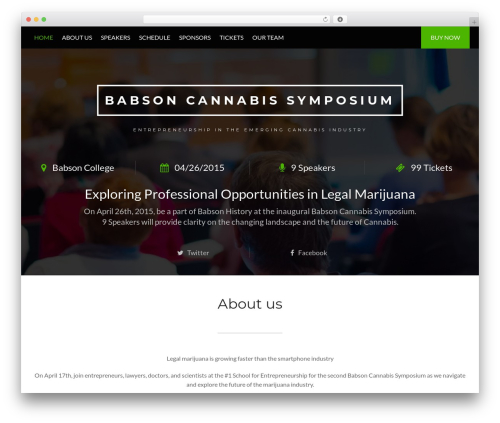 Conference Child Theme WordPress theme - babsoncannabis.com