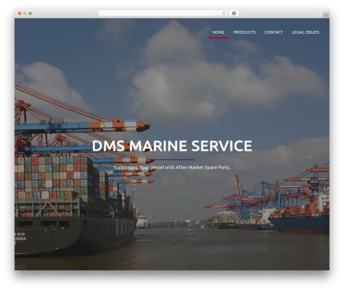 Corporate Plus Pro WordPress theme design - dms-marine.com