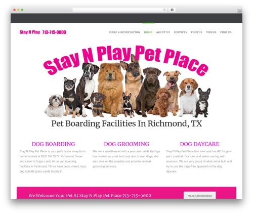 HappyPets best WordPress theme - staynplaypetplace.com