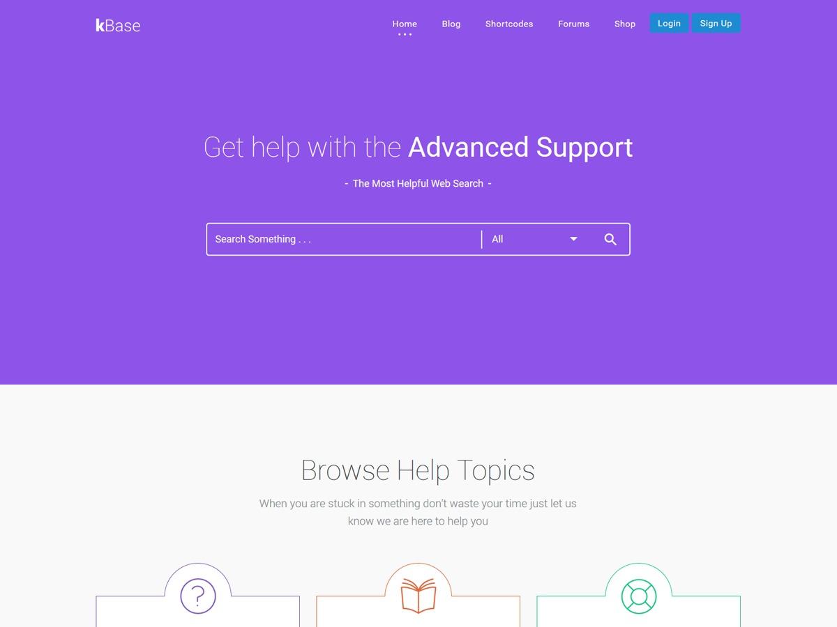 kBase WordPress theme