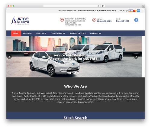 Motors WordPress theme design - atczama.com