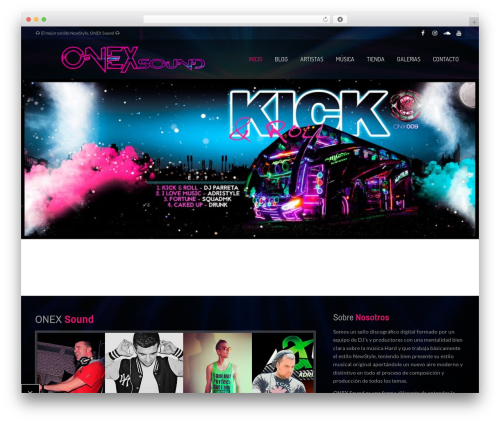 MusicPlay newspaper WordPress theme - onexsound.com