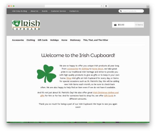 Storefront theme WordPress - irishcupboard.com