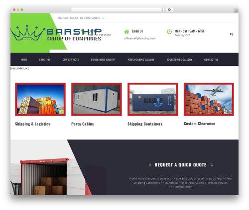 Transport WordPress theme - barship.com