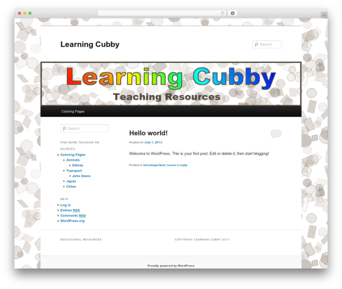 Twenty Eleven template WordPress free - learningcubby.com