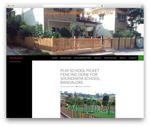 Twenty Fourteen landscaping WordPress theme - unopicketfence.com