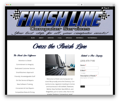 WordPress template Ribosome - finishlinecomputerservices.com