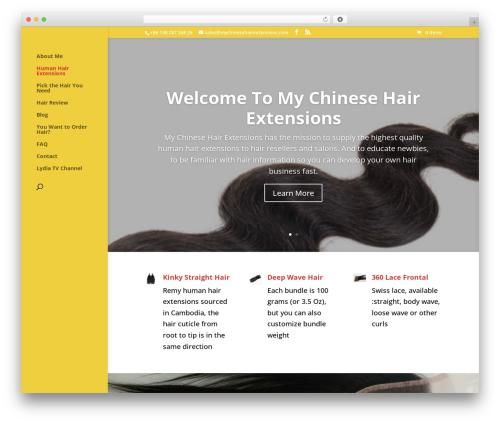 WordPress theme Divi - mychinesehairextensions.com