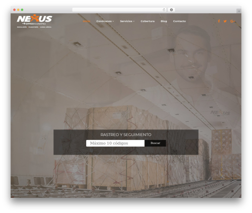 WordPress theme GoCargo - nexuspaqueteria.com
