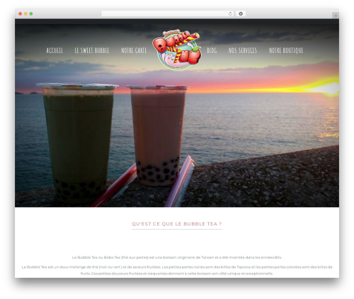 WordPress theme Niku - sweetbubblethe.com
