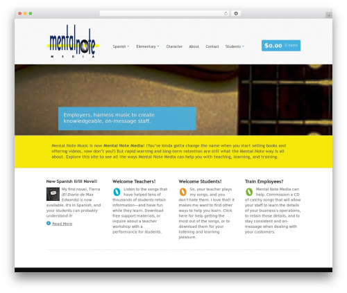WordPress theme Whitelight - mentalnotemedia.com