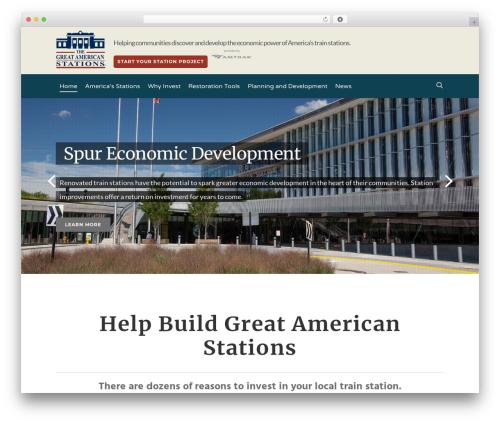 WordPress website template Salient - greatamericanstations.com