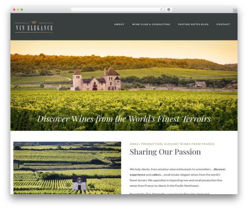 WordPress website template Villenoir - vinelegance.com