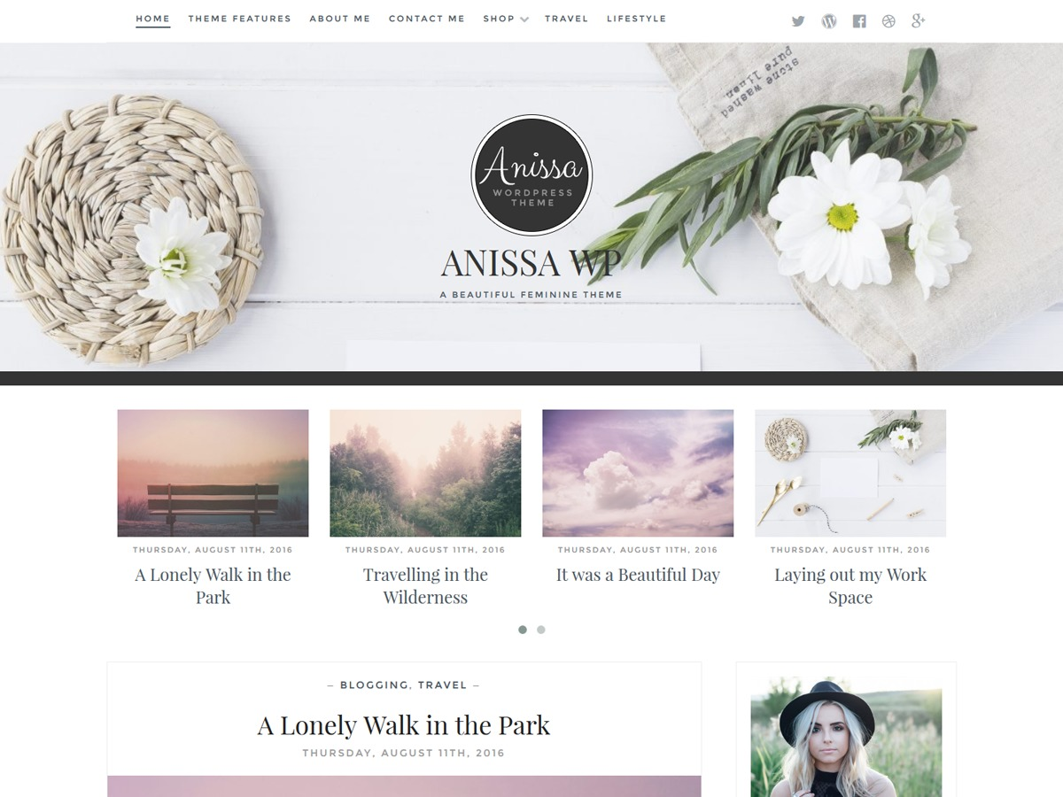 Anissa Child WordPress ecommerce template