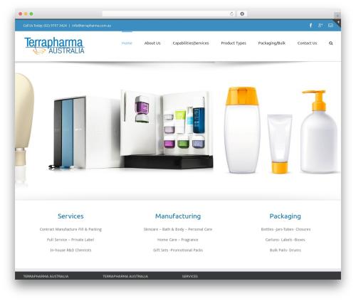 Avada WordPress template - terrapharma.com.au
