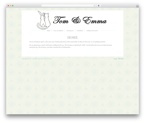 Blissful-Blog WordPress blog theme - tomandemma.com