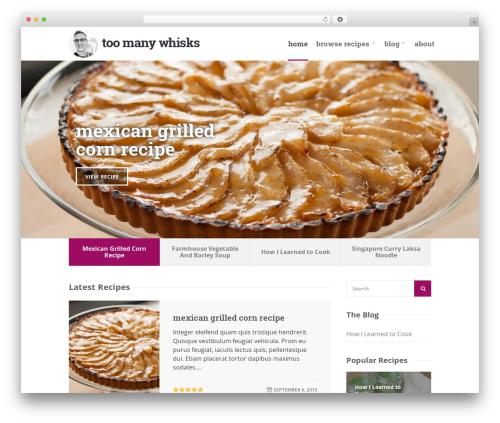 Chow WordPress website template - toomanywhisks.com