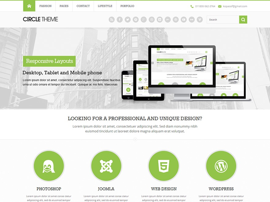 Circle theme WordPress news theme