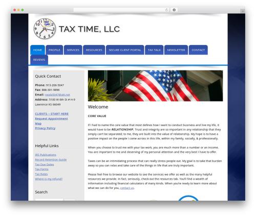 Customized company WordPress theme - taxtimeks.com