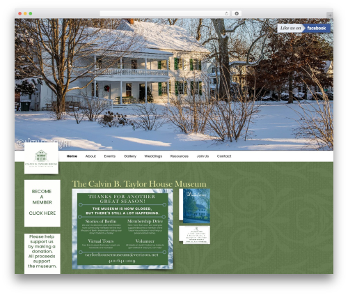 D3corp WordPress store theme - taylorhousemuseum.org
