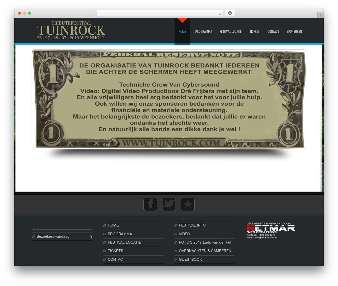 D5 Business Line Extend company WordPress theme - tuinrock.com