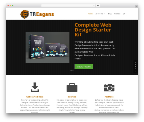 Divi WordPress template for business - treagans.com
