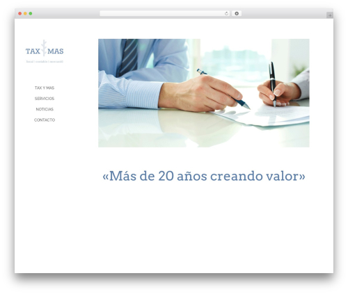 Divi WordPress theme - taxymas.es