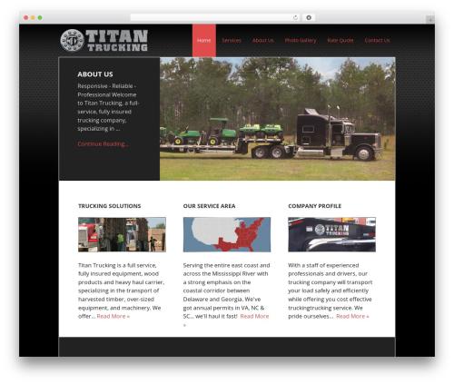 Executive Pro Theme business WordPress theme - titantrucking.net
